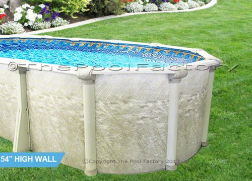 12x24 Oval 54 High Above Ground Swimming Pool Value Package 7 Top L