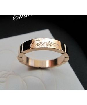 Cartier ring Lanieres wedding band pink gold Replica
