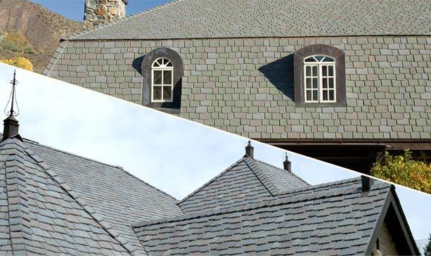 Composite Shake Shingles Polymer Slate Roofing Tiles