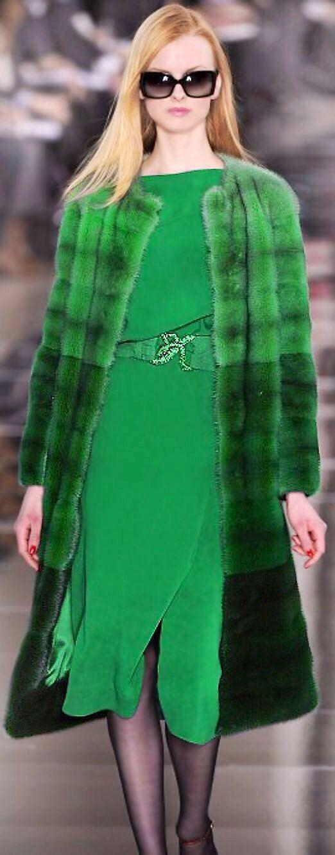 valentino green coat