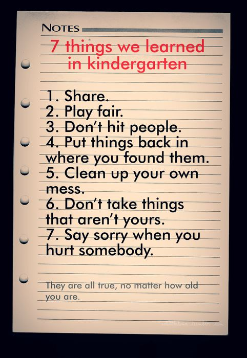 everything i learned in kindergarten quotes quotesgram