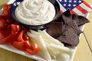 All-American Summer Dip recipe #appetizer #4thofJuly #kraftrecipes