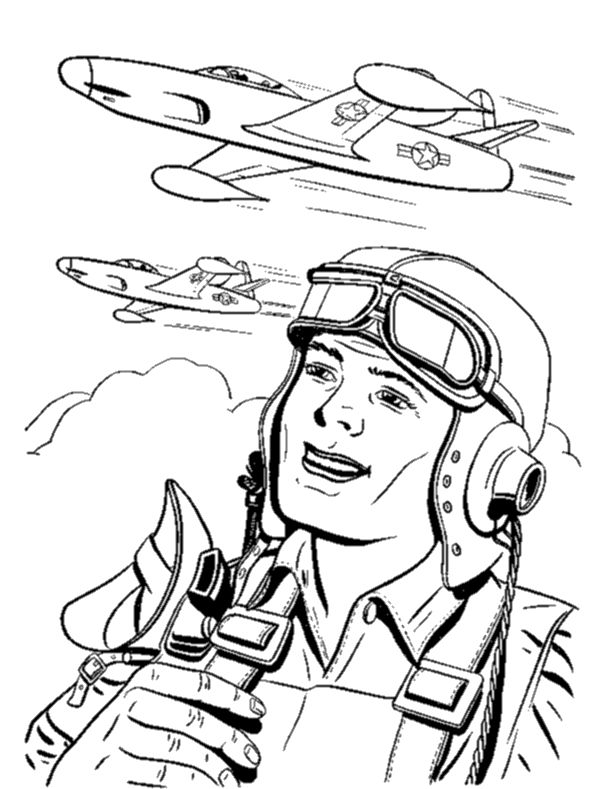 pilot coloring pages - photo#4