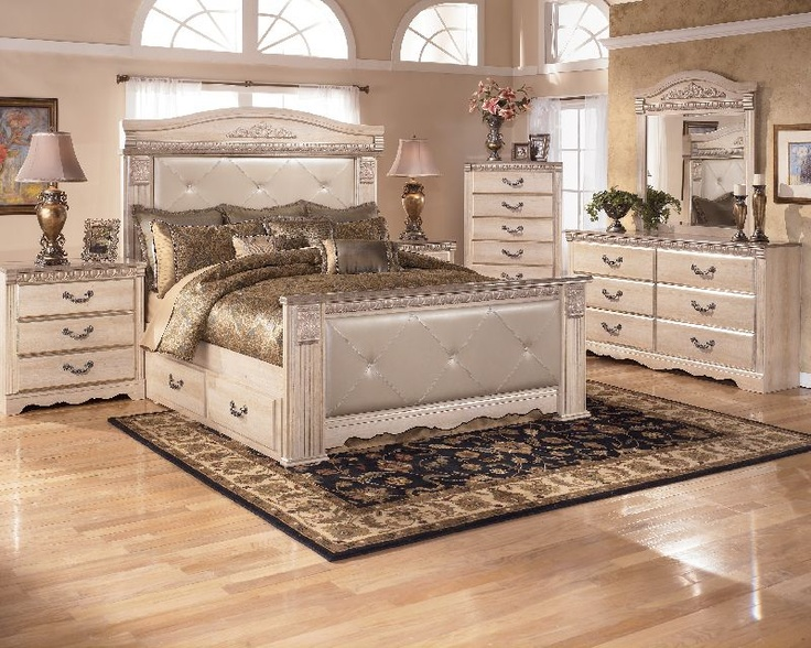 styled silverglade bedroom collection is sure to enhance any bedr