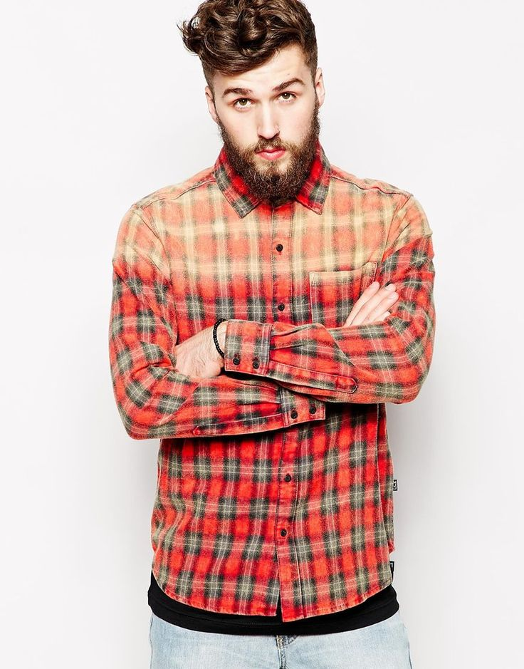 Zee gee why shirt whiskey tango acid wash check flannel for How to wash flannel shirts