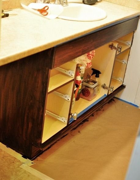 How to gel stain cabinets diy home pinterest - How to stain oak kitchen cabinets ...