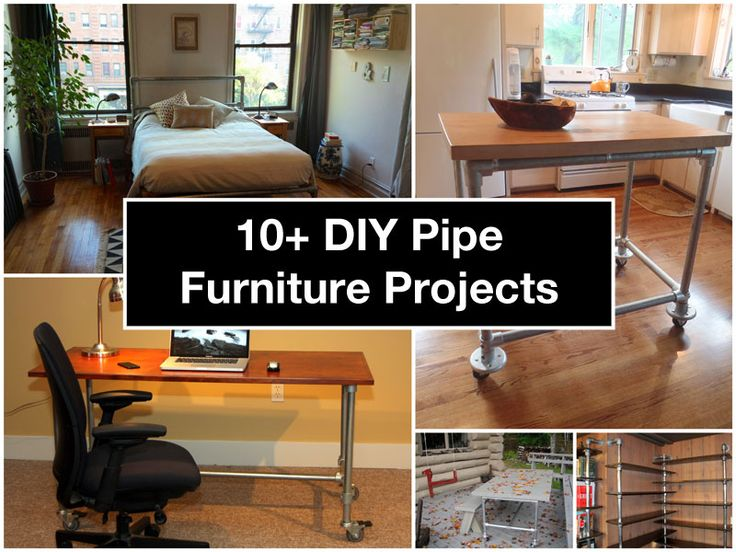 10 diy pipe furniture projects for the home