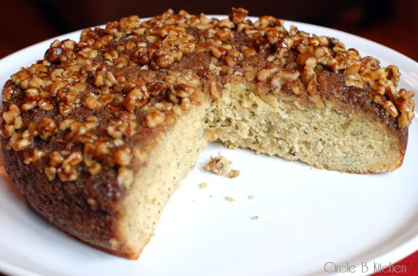 Caramel Walnut Upside-Down Banana Cake | Cakes & Pies, Oh My! | Pinte ...