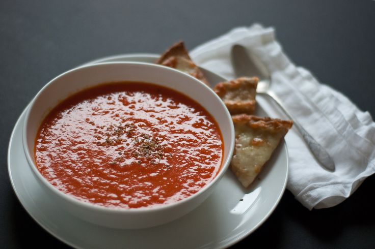 Roasted red pepper and tomato soup. A sexier sidekick for your gluten ...