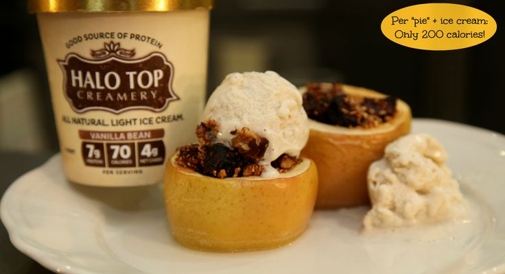 Baked Apples a la Halo Top! Made With Halo Top Ice Cream, you can feel ...