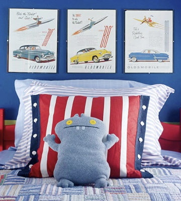 Vintage car posters for boy's room