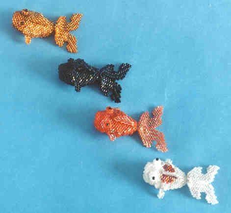 Three dimensional beaded peyote koi fish instructions pdf file for Koi fish beads