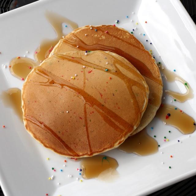 cake batter pancakes :) | Sweets | Pinterest