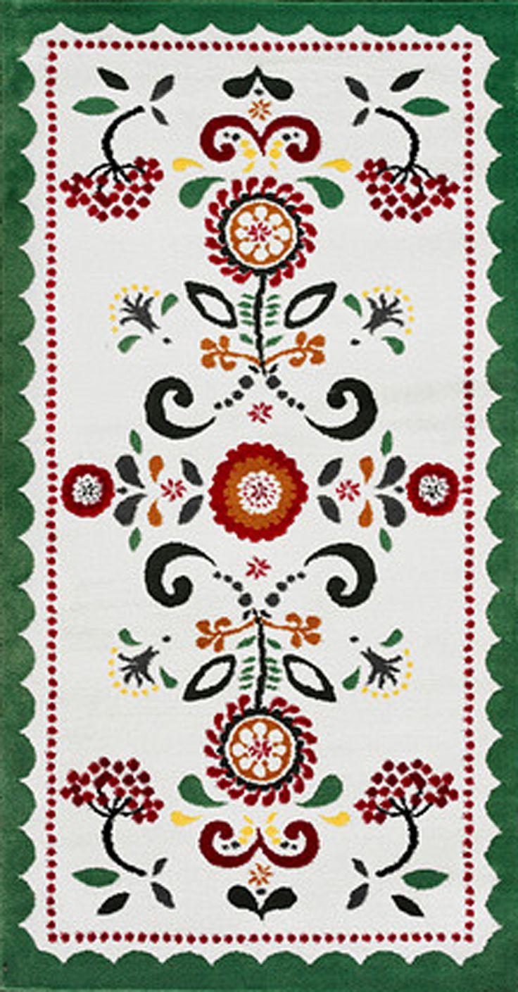 kerkulla teppich kurzflor wei bunt only folk art pinterest. Black Bedroom Furniture Sets. Home Design Ideas