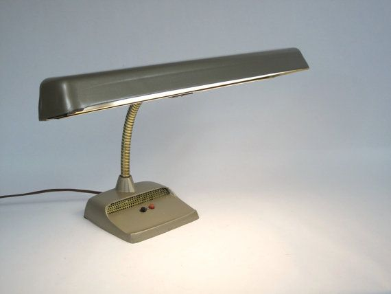 50 s SciFi Desk Lamp Metallic Gold Fluorescent by