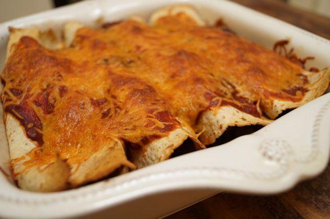 Black Bean Turkey Enchiladas (maybe ground chicken?) -- Kuzak's Closet