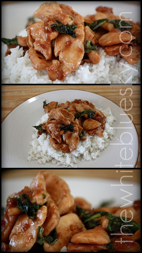 ... style stir fried cabbage thai style stir fried chicken and basil