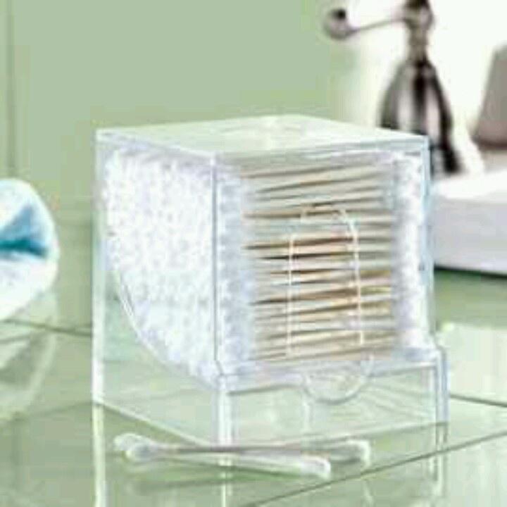 Toothpick dispenser for q tips tips and tricks for Bathroom q tip holder
