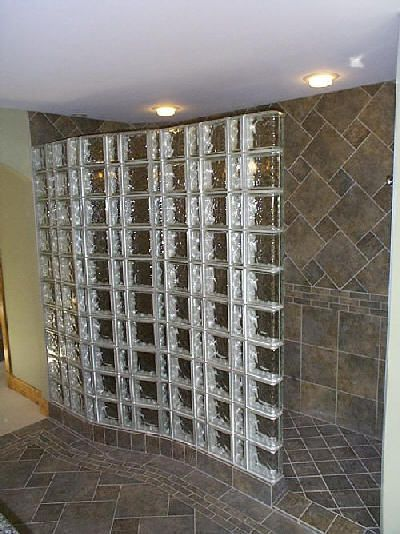 Another doorless shower i like my house pinterest for Walk in shower without glass