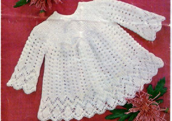 Knitting Pattern Baby Girl Jumper : Knitting pattern, baby sweater, angel top, baby girl, baby dress patt?