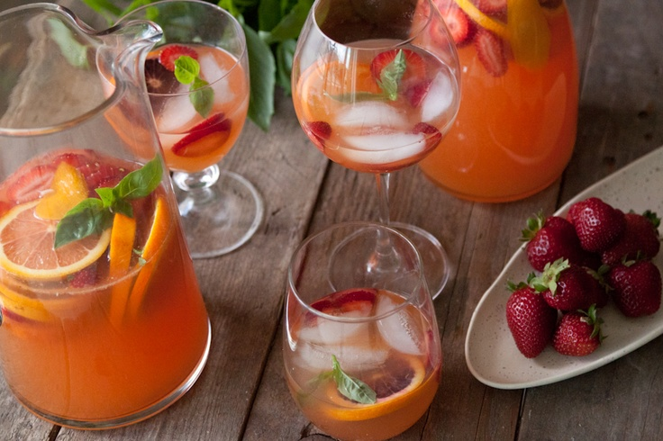 Citrus and Basil Sangria from What's Gaby Cooking (http://punchfork ...