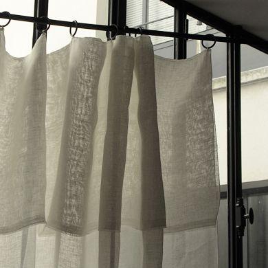 Rideau en voile de lin linens linge de maison pinterest - Rideau voile de lin ...