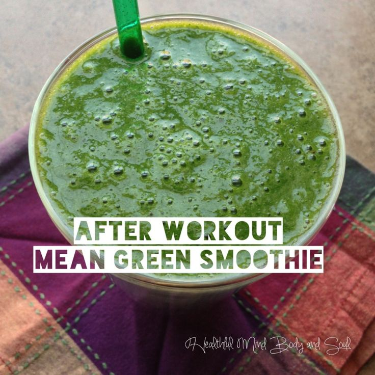 After Workout Mean Green Smoothie! | Juicing | Pinterest