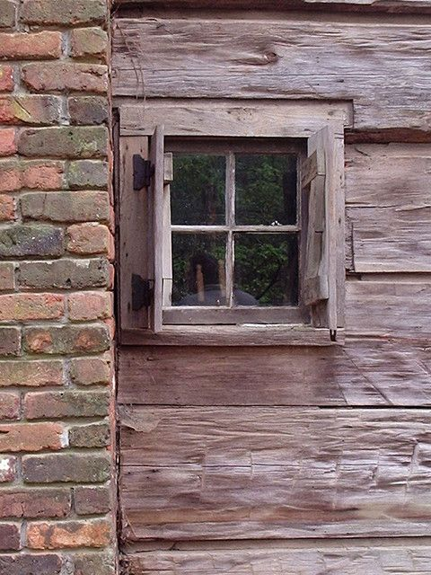 Log Cabin Window Windows Pinterest