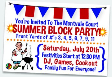 july 4th block party ideas
