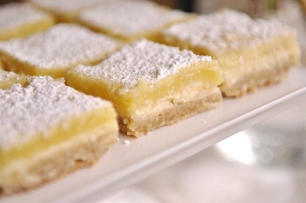 lemon cheesecake bars: shortbread crust, with a creamy cheesecake ...