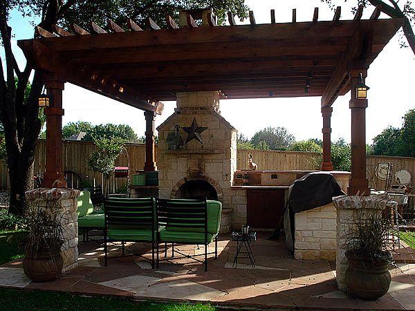 Backyard Cabana Designs : backyard pole lighting ideas gallery stf design amp build