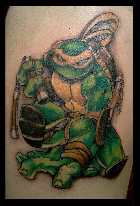 Ninja turtle tattoo dan lopez color tattoos pinterest for Ninja turtles tattoo