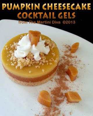 Pumpkin Cheesecake Cocktail Gels (aka jelly shots). Click image for ...