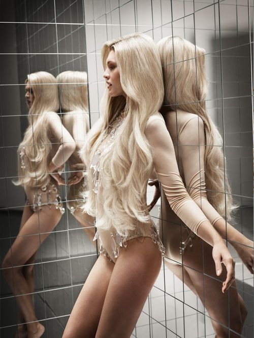 Long and Platinum Blonde