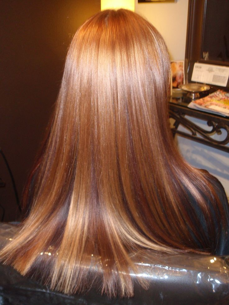 Love this, highlights and lowlights for redheads, not too extreme, but
