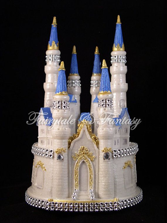 Castle Cake Topper Cinderella Fairytale Wedding Or Sweet 16 Or 15