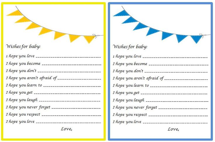 BABY SHOWER GAME CARD TEMPLATES - baby shower game