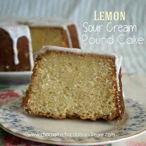 Lemon sour cream cake   Desserts   Pinterest