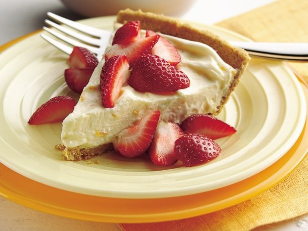 Strawberry topped orange cream pie | Breads & Desserts