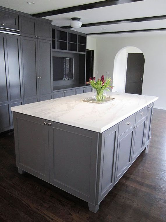 Grey cabinet paint google search grey kitchens pinterest for Grey cabinet paint