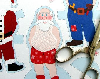 Christmas paper dolls printable christmas crafts pinterest