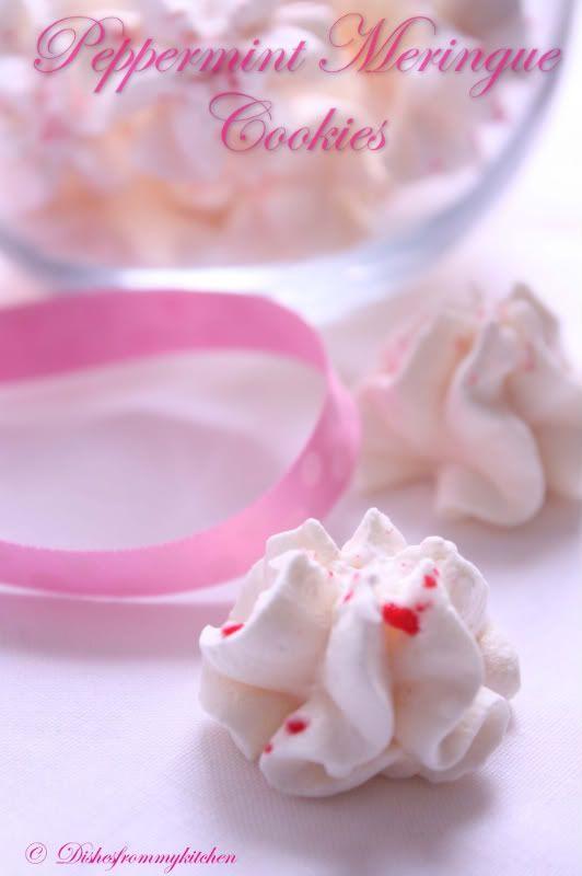 Peppermint meringue cookies | white christmas | Pinterest