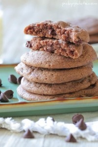 Brownie Batter Chocolate Chip Cookies | fill up my belly | Pinterest