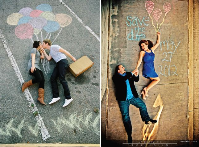 "check this out! cool idea for ""save the date"" photos!<3"