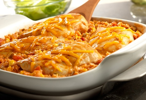 Tex Mex Chicken & Rice Bake 1 can Campbell's® Cream of Chicken Soup 1...
