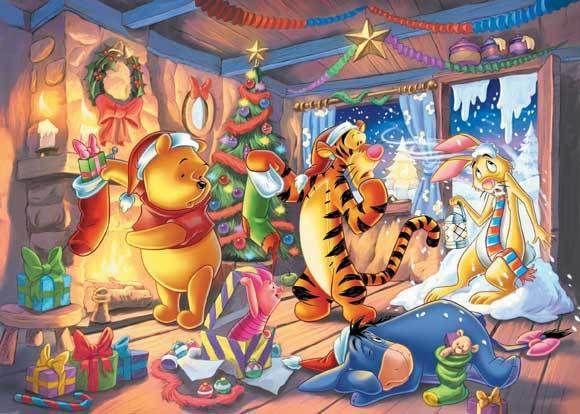 Disney Tapete Winnie Pooh : Winnie the Pooh Christmas Winnie the Pooh and Friends Pinterest