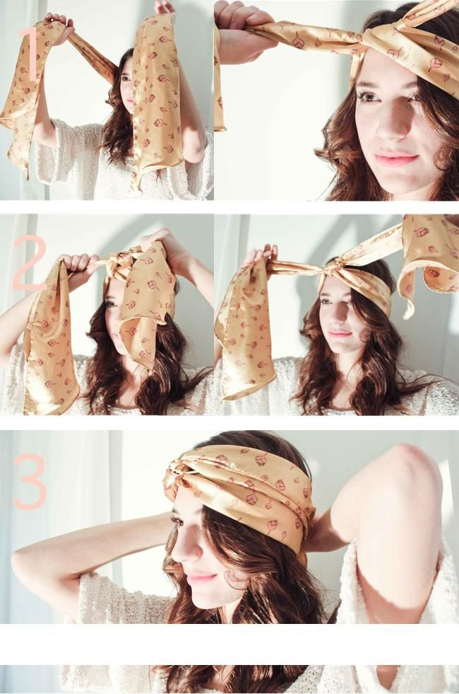 diy tutorial hair accessories how to tie a scarf