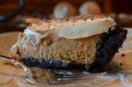 Double Decker Pumpkin-Caramel Pie Oreo crust, pumpkin filling & topped ...