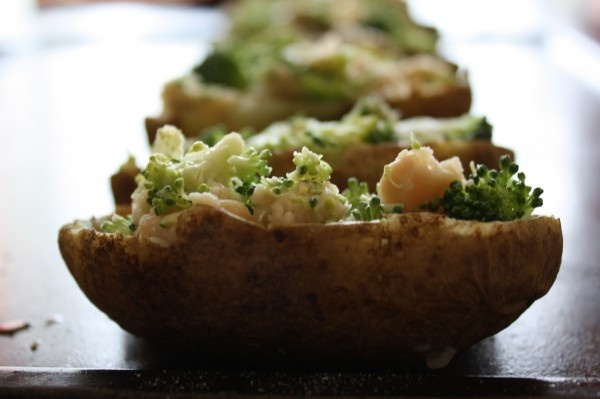 Broccoli And Cheddar Skinny Potato Skins Recipe — Dishmaps
