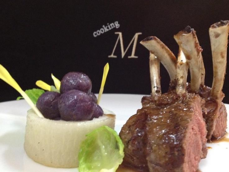Lamb rack / turnip / okinawa potato gnocchi / garam masala sauce. From ...